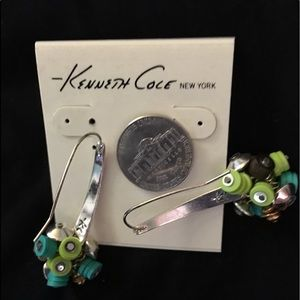 NWOT Kenneth Cole Collection Wire Earrings Stamped